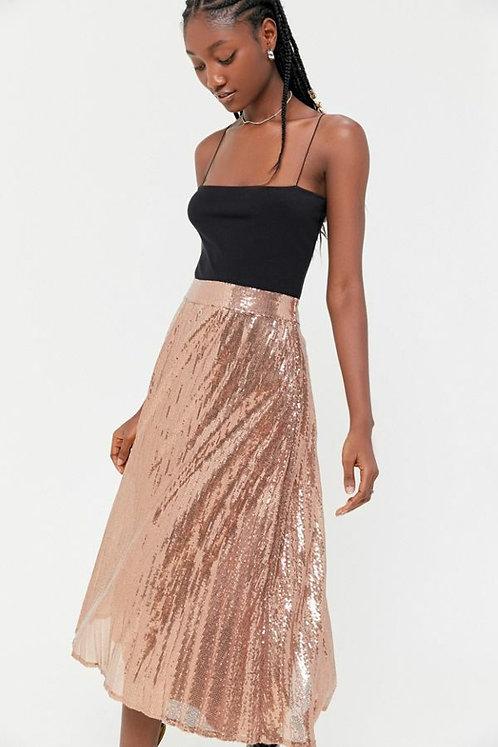 Emilia sequin pleated midi skirt- Talla M