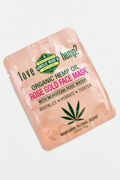 Uncle Bud's Rose Gold Hemp Face Mask