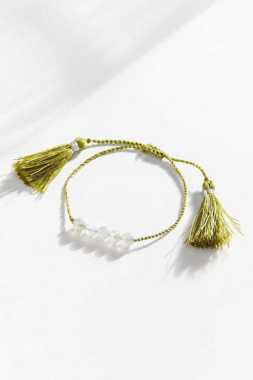Grace Genuine Stone Bracelet - Green