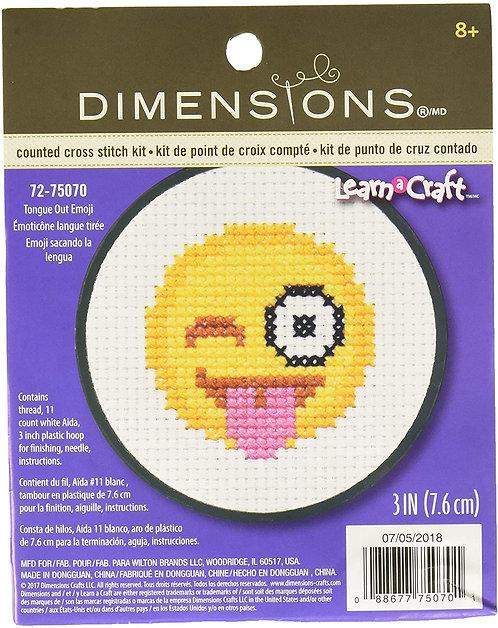 Emoji Mini Kit de punto de cruz para principiantes
