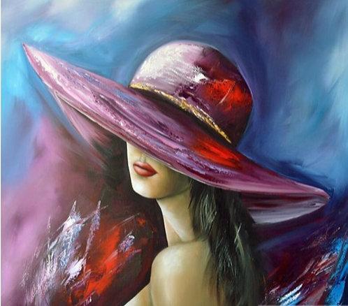 "Diamond Painting ""Woman in Hat"" 15 x 15 cm"