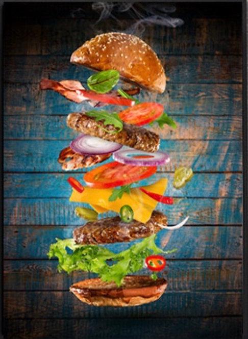 "Diamond Painting "" Burger Stack "" 30 x 40  cm + 1 surprise item"
