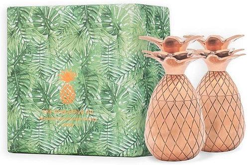 The Pineapple Co - Piñas de 2 onzas, vasos de chupito por W&P Design, 2 unidades