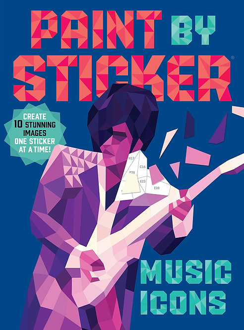Paint by Sticker: Music Icons: Re-create 12 Classic Photographs One Sticker at a