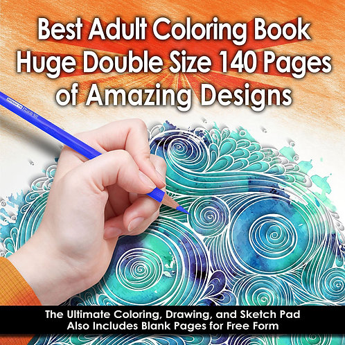 Best Adult Coloring Book (Double Size) – 140 Pages With 68 Designs – Amazing