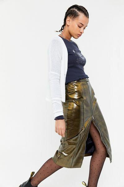 Gia Zip-Front Pencil Skirt - Talla XS