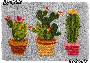 Alfombra de lana Cactus 52 x 38