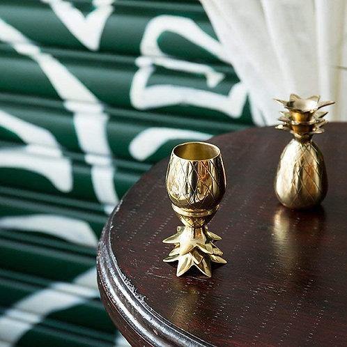 W&P - Vasos de chupito de piña, Dorado