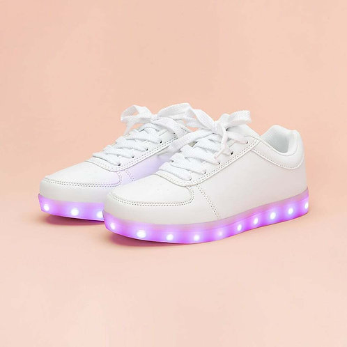 White Light Up Sneakers Talla 5