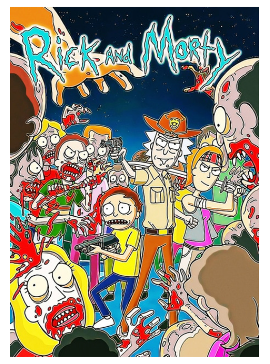 """Diamond Painting """"30x40"""" Rick and Morty  level 1"""