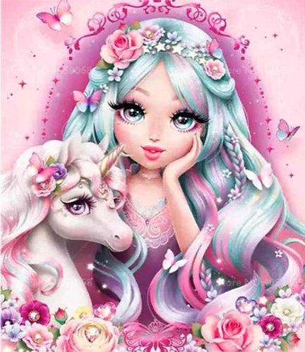 "Diamond Painting ""Unicorn Girl"" 20 x 30 cm"