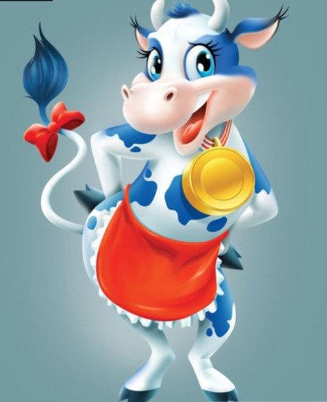"Diamond Painting ""Little Cow"" 20 x 30 cm"