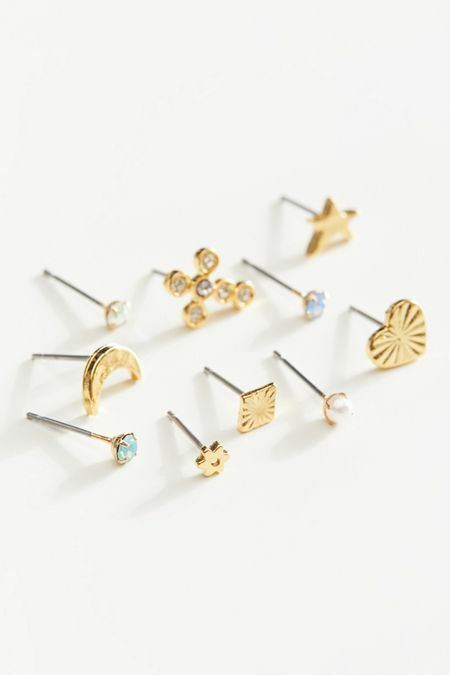 Mini Icon mismatch Post Earring Set