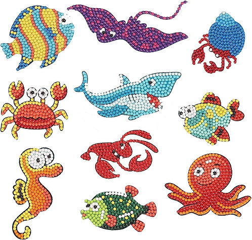 """Diamond Painting Stickers for Kids """"Under the Sea"""""""