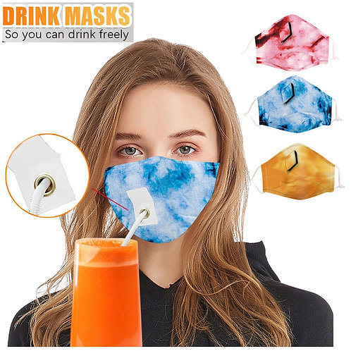 Mascarillas Safe & drink reutilizables Tie Dye