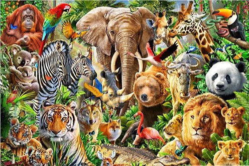 """Diamond Painting """"Welcome to the Jungle -take 2"""" 30 x 40"""