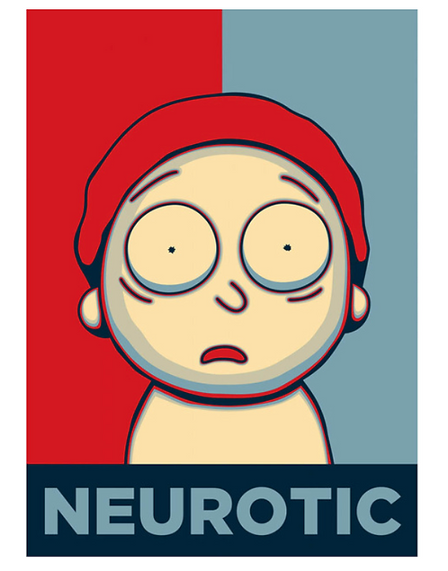 "Diamond Painting ""Neurotic Morty"" 25 x 30 cm"
