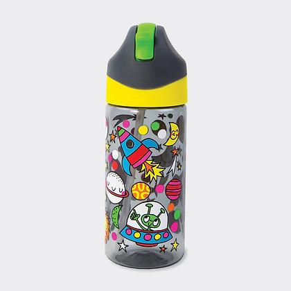 בקבוק שתיה עם קש - חלל