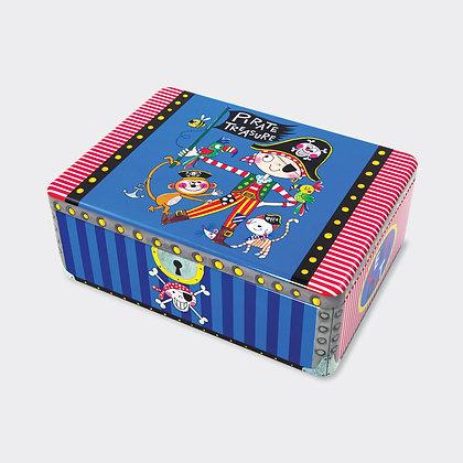קופסת פח מלבנית - פיראט