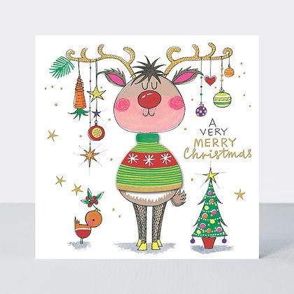 Christmas-Reindeer - כרטיס ברכה