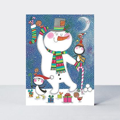 מארז 5 כרטיסי ברכה מיני - איש שלג