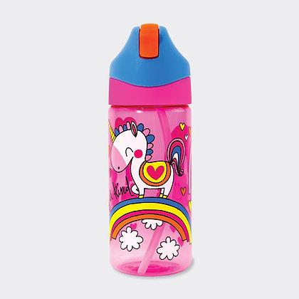 בקבוק שתיה עם קש - חד קרן
