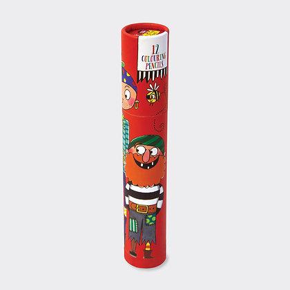 מארז 12 עפרונות צבעוניים - פיראט