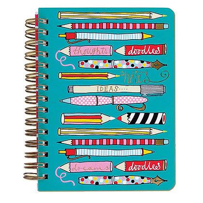 פנקס ספירלה - עפרונות