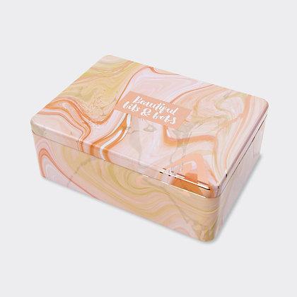 קופסת פח מלבנית - שיש