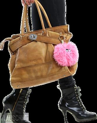 Bag פוף מחזיק מפתחות בצבע ורוד בהיר