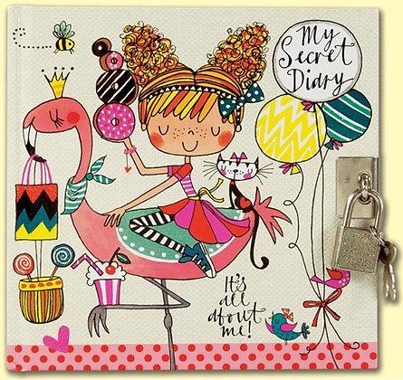 יומן מפתח - ילדה עם בלונים