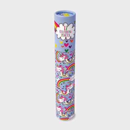 מארז 12 עפרונות צבעוניים - חד קרן
