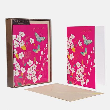 Sara Miller - מארז 10 כרטיסי ברכה פרפרים