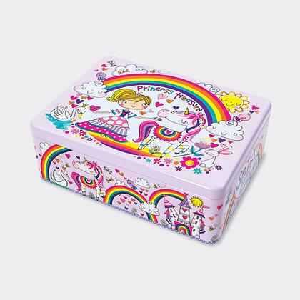 קופסת פח מלבנית - נסיכה