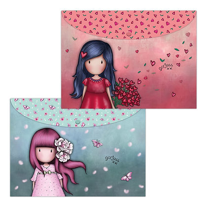 Cherry Blossom / Love Grows - זוג תיקיות מעטפה
