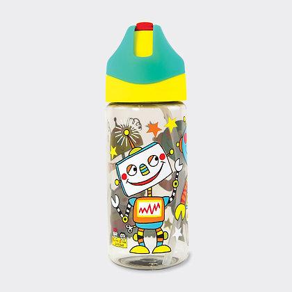 בקבוק שתייה עם קש - רובוט