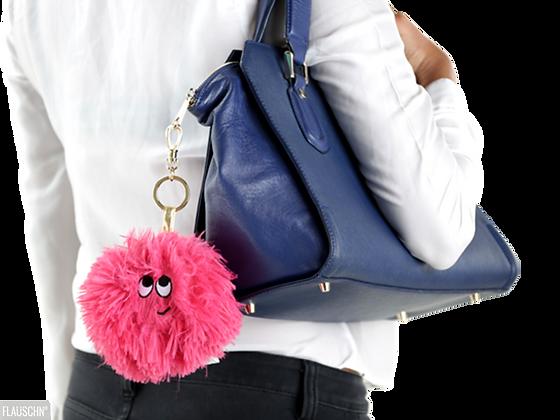 Bag פוף מחזיק מפתחות בצבע ורוד כהה