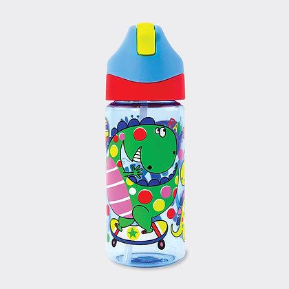 בקבוק שתיה עם קש - דינוזאורים