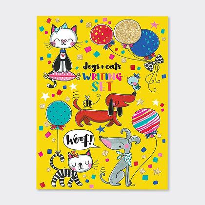 מארז ניירות מכתבים - כלבים וחתולים