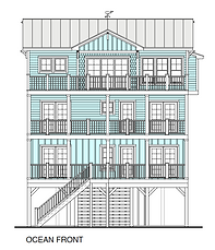 "Image of house plan named ""Beach View 2244-5E."" Click on the image to learn more about this plan."