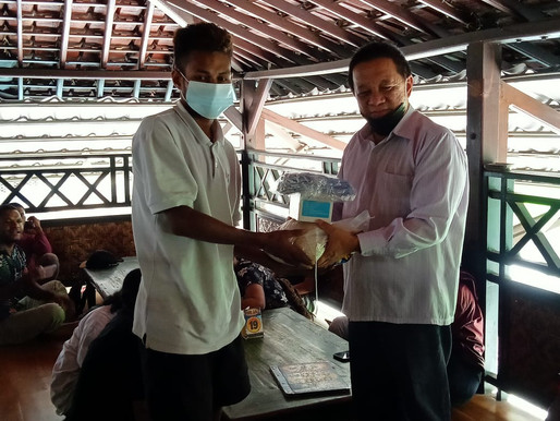 Bakti Sosial Dengan Pelajar dan Mahasiswa Papua Jember