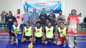 Jalin Silaturahmi, Polres dan Pemkab Jember Gelar Pertandingan Futsal Dengan Mahasiswa Papua