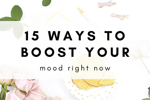 15 Ways to Change Your Mood Downloadable Checklist