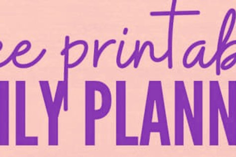 A Printable Daily 1-pg. Planner