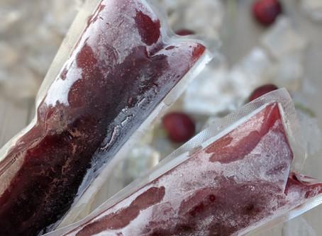 Elderberry Cherry Ice Pops