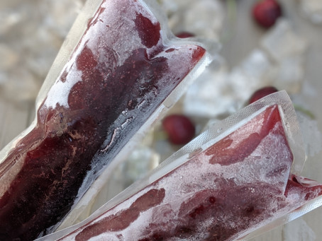 Elderberry Cherry Ice Pops