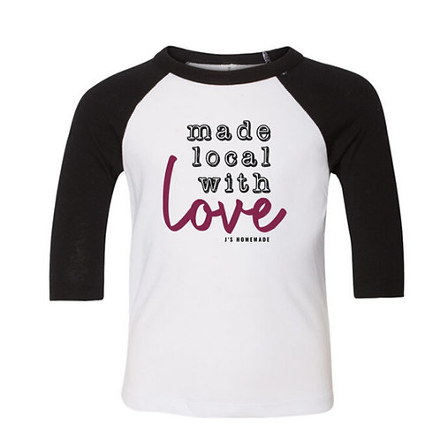 """Made Local with Love"" Baseball Tee"