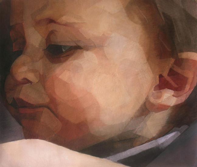 Pierre, pastel sec sur toile, 160 x 140cm, 2009