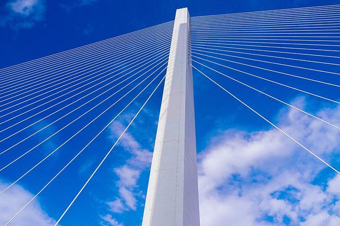 Schrägseilbrücke Turm