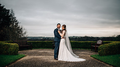 Dramatic Light Bride and Groom by Shoot for the Moon